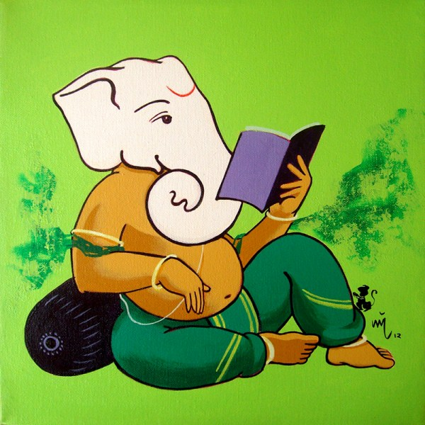 Ganpati With Book