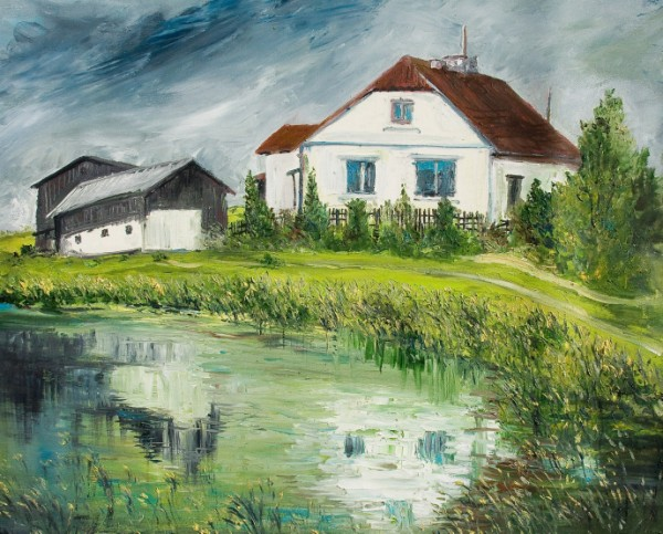 Farmhouse on river Itawka
